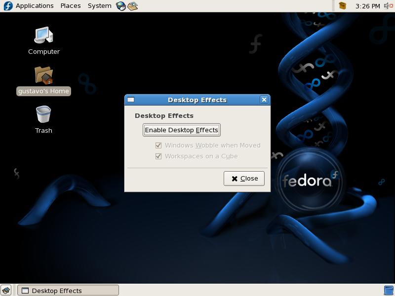 basta clicar em um botão para ter efeitos 3D ativos no Desktop